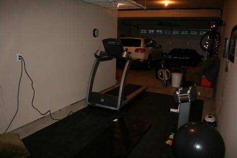 a garage gym