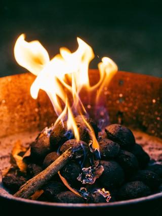 a camp fire